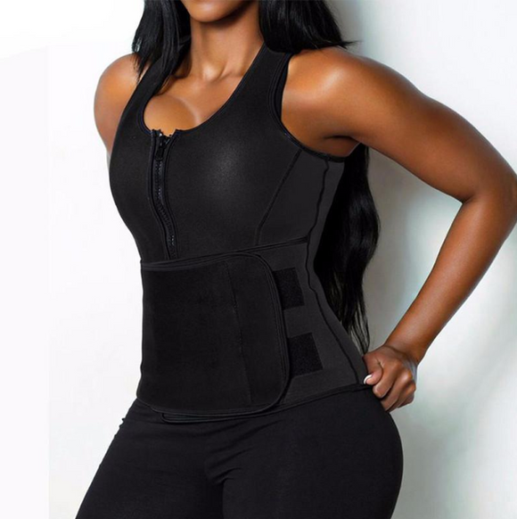 Plus Size Full Upper Body Sauna Vest - Waist Trainer and Sauna Suit in ONE! - UptownFab™