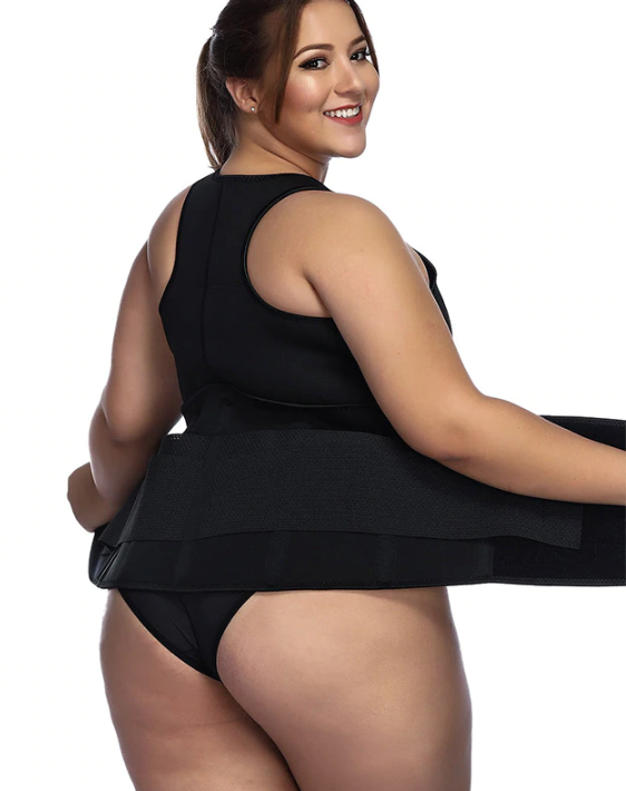 Plus Size Waist Trainer - Workout Sweat Belt ~ Weight Loss Wrap! - UptownFab™