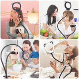 Professional Selfie Ring Light with Cell Phone Holder Stand for Live Stream - UptownFab™
