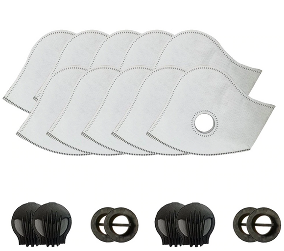 10 Pack Filter Replacement for Face Masks - Includes 4 Valves - UptownFab™