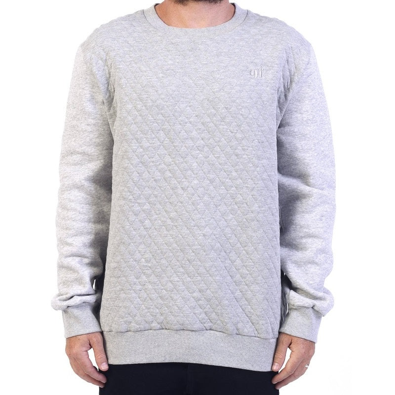 GRAND FLAVOUR SWEATER QUILTED GREY