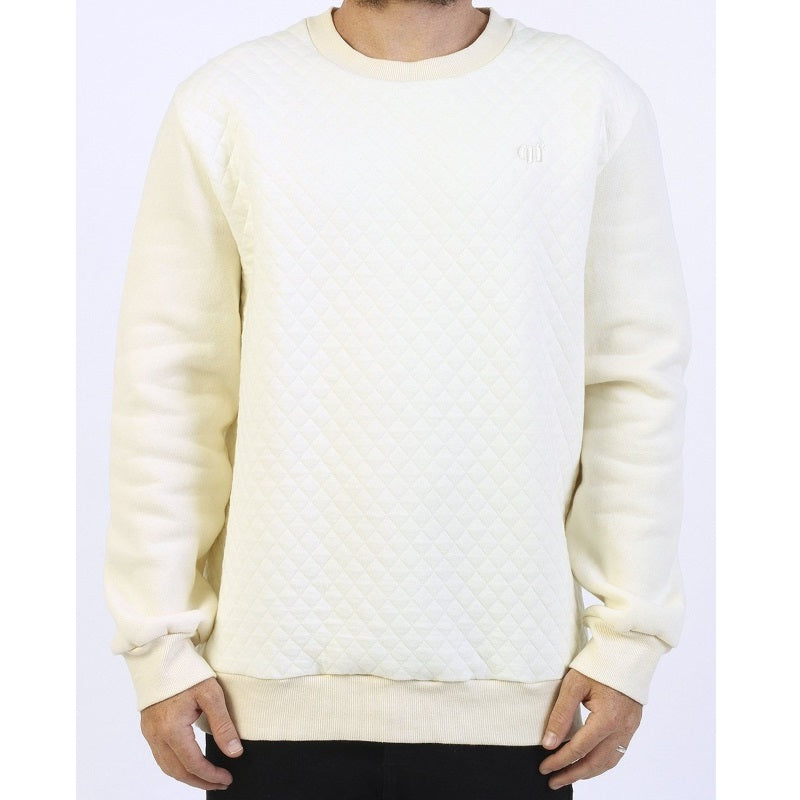 GRAND FLAVOUR SWEATER QUILTED SAND