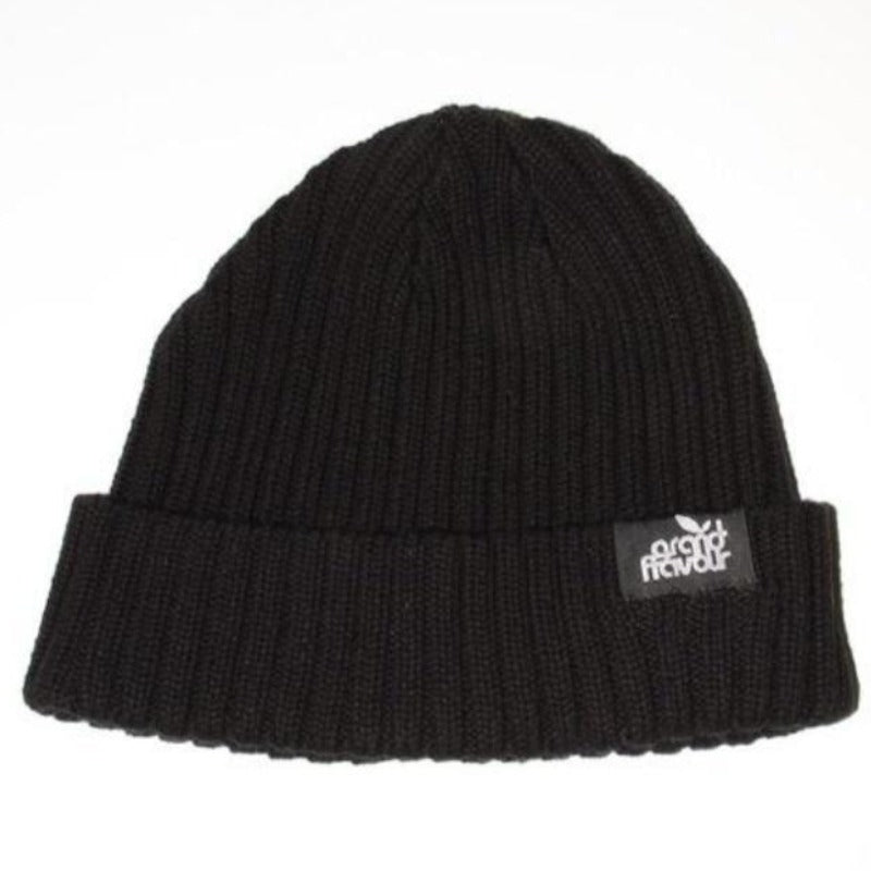 GRAND FLAVOUR CORRUGATED BEANIE BLACK