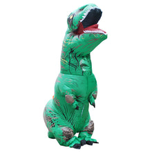 Green Inflatable T rex Costume For Adults Kids Blow up T-Rex Dinosaur Halloween Costume Child Party Costume