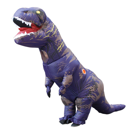 Purple Inflatable T rex Costume For Adults Kids Blow up T-Rex Dinosaur Halloween Costume Child Party Costume