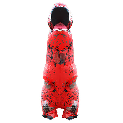 Red Inflatable T rex Costume For Adults Kids Blow up T-Rex Dinosaur Halloween Costume Child Party Costume