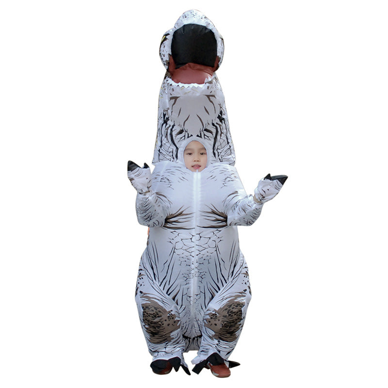 ... White Inflatable T rex Costume For Adults Kids Blow up T-Rex Dinosaur Halloween Costume  sc 1 st  AliCostumes.com & White Inflatable T rex Costume For Adults Kids Blow up T-Rex ...