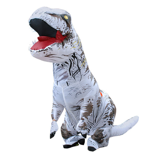 White Inflatable T rex Costume For Adults Kids Blow up T-Rex Dinosaur Halloween Costume Child Party Costume