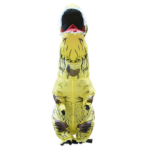 Yellow Inflatable T rex Costume For Adults Kids Blow up T-Rex Dinosaur Halloween Costume Child Party Costume