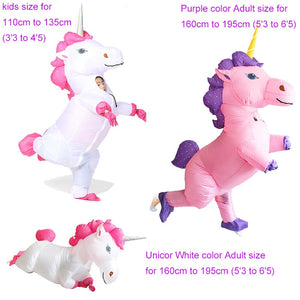 Inflatable Unicorn Costume For Adults Kids