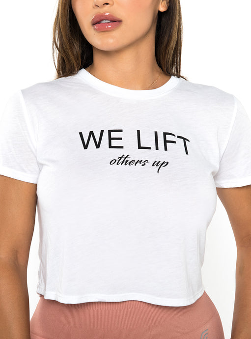 We Lift Crop Tee