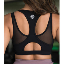 Cherí Fit – Mesh Accent - Black Sports Bra