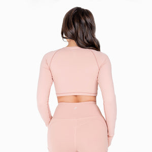 Flex Pink Cropped Long Sleeve