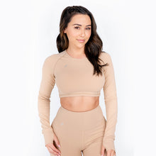 Flex Sand Cropped Long Sleeve