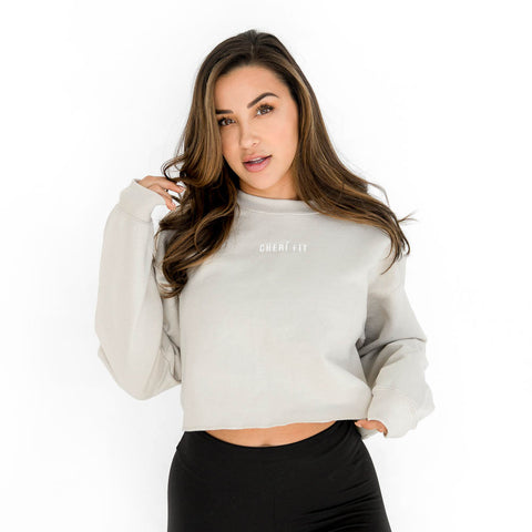 "The ""Cherí Fit"" Sand Crewneck"
