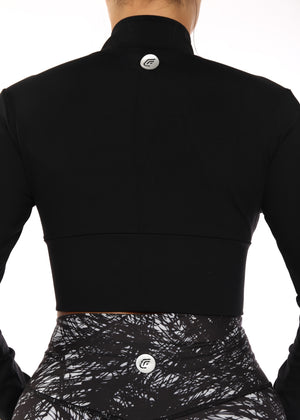 Load image into Gallery viewer, CF Black Cropped Jacket
