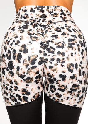 Load image into Gallery viewer, Duo Scrunch Brown Leopard Leggings