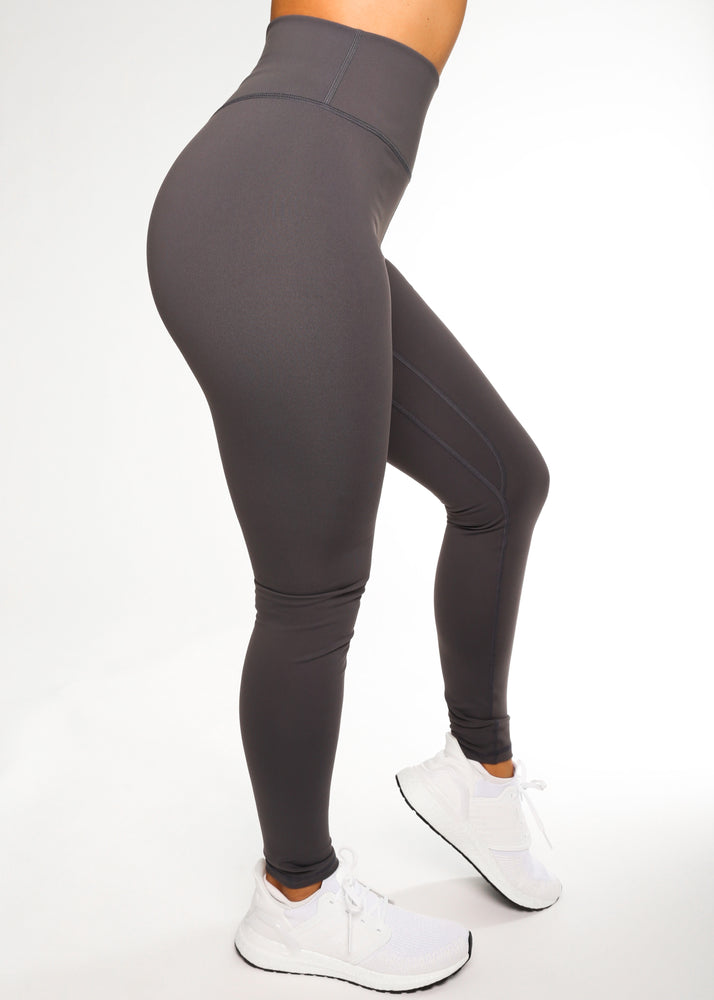 Gray V-Back Legging