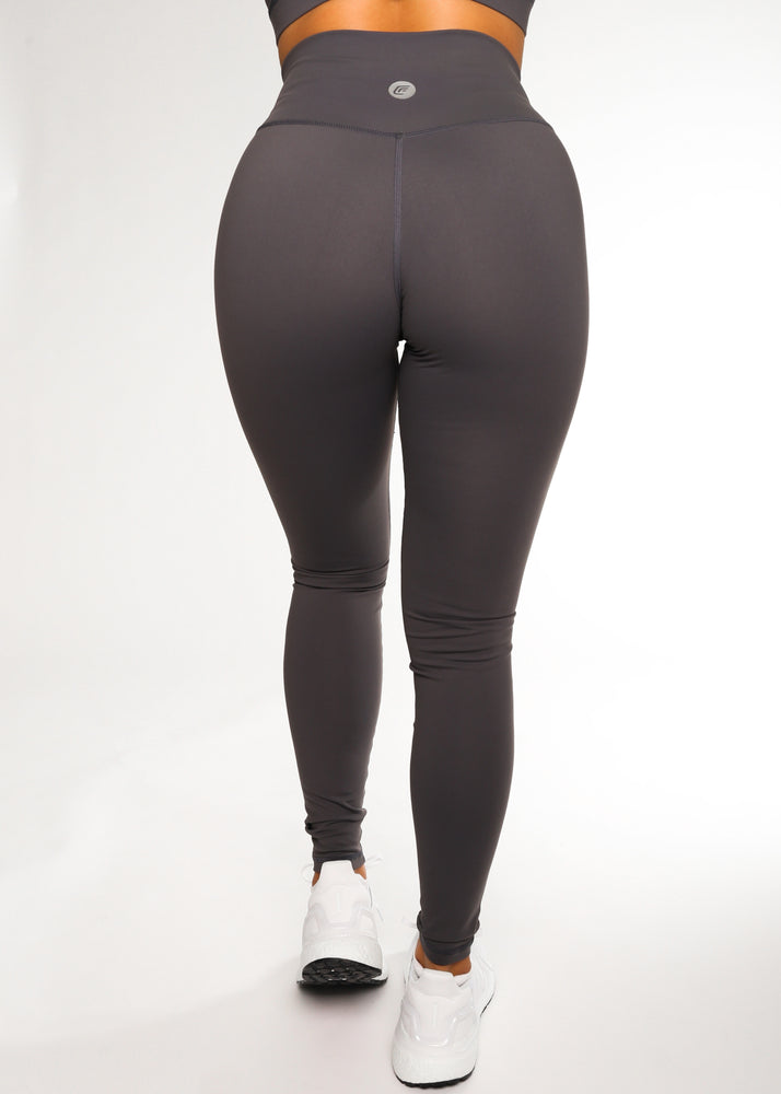 Load image into Gallery viewer, Gray V-Back Legging