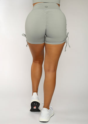 Load image into Gallery viewer, Elephant Gray Hermosa Scrunch Shorts