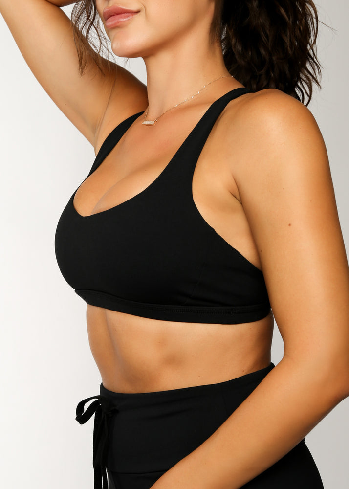 Load image into Gallery viewer, The Catch Sports Bra - Black