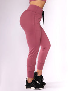 Winter Rose Scrunch Joggers