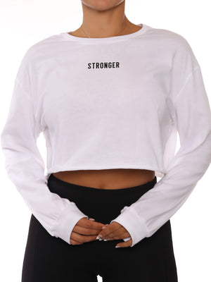 Load image into Gallery viewer, White Stronger Long Sleeve