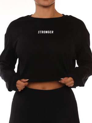 Load image into Gallery viewer, Black Stronger Long Sleeve