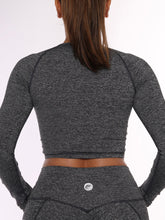 Aero Tri Blend Charcoal Cropped Long Sleeve