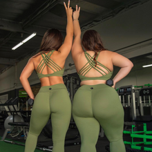 """Cherí Fit"" Revive Olive Sports Bra"