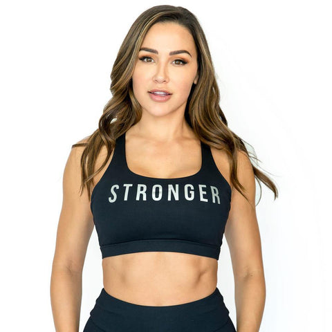"""Stronger"" Revive Black Sports Bra"