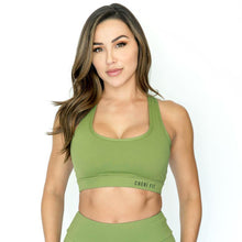 """Cherí Fit"" Flow Olive Sports Bra"