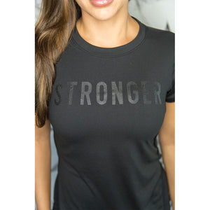 Cherí Fit - Stronger - Black Tee