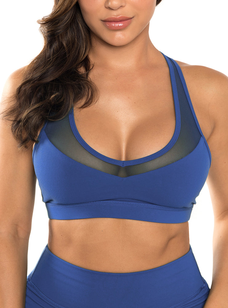 Load image into Gallery viewer, Sapphire Laguna Sports Bra