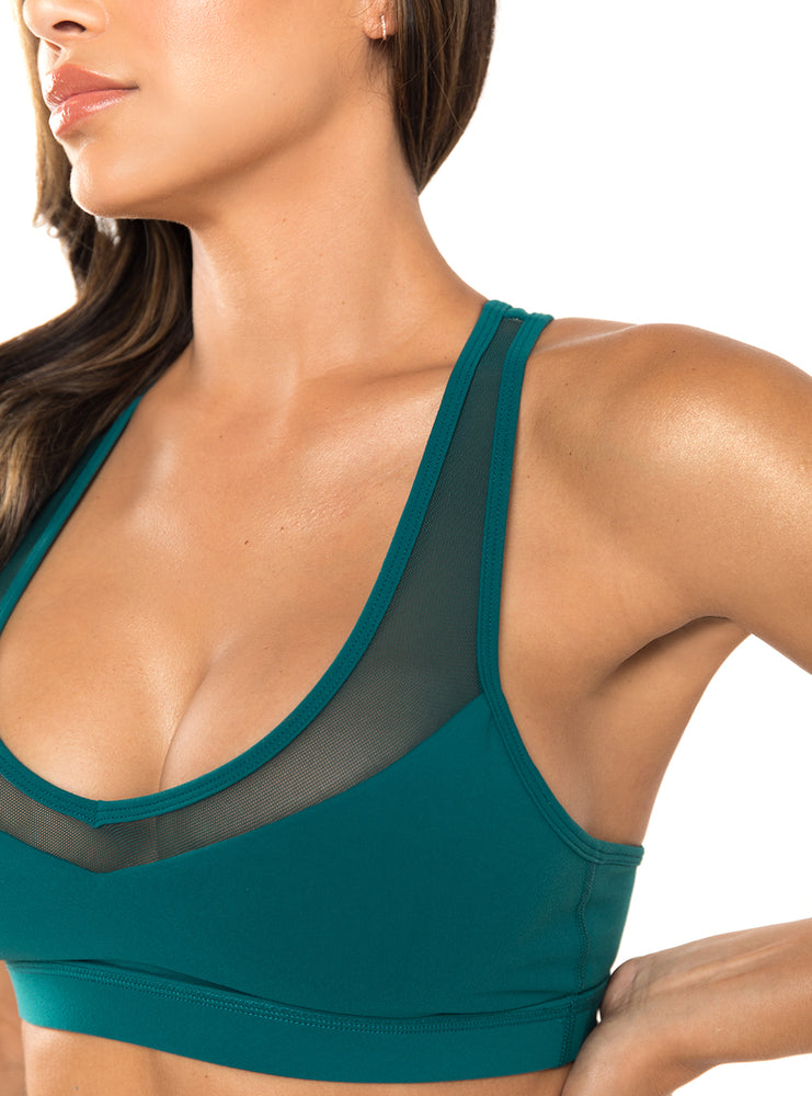 Load image into Gallery viewer, Turquoise Laguna Sports Bra
