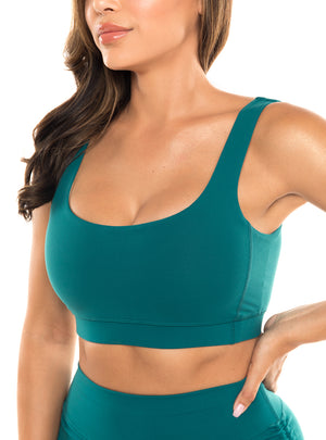 Load image into Gallery viewer, Turquoise Malibu Sports Bra