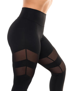 Black Laguna Scrunch Leggings