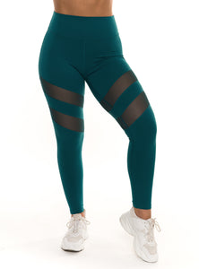 Turquoise Laguna Scrunch Leggings