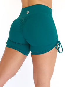 Turquoise Hermosa Scrunch Shorts