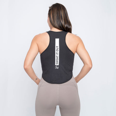Cherí Fit - Sweat It Out - Black Tank