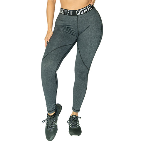 Jacquard Charcoal Leggings