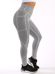 Textured Hexagon Leggings