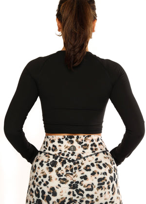 Load image into Gallery viewer, Black Cheri Fit Long Sleeve