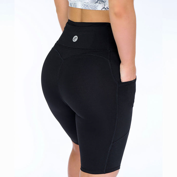 Cherí Fit - Long Shorts - Black