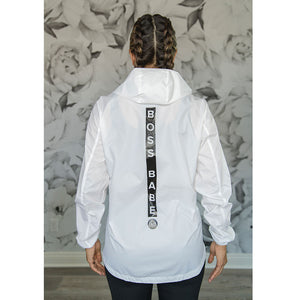 Cherí Fit - Boss Babe Windbreaker - White