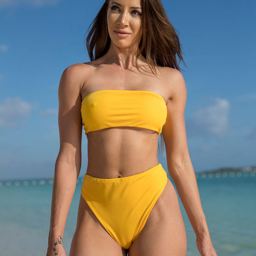 Cherí Swim - Bahama - Yellow Bottoms - Large Only