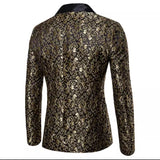 Black/Antique Gold Vintage Blazer