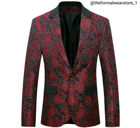 Black/Red Vintage Blazer
