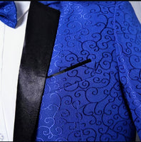 Royal Blue Jacquard Blazer