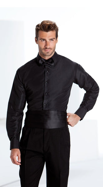 Regular Fit Black Tuxedo Shirt